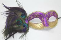 Purple and Gold Peacock Mask